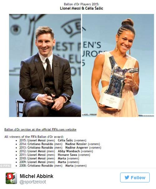 Danh hiệu QBV: Messi xứng đáng với những tin đồn - 1