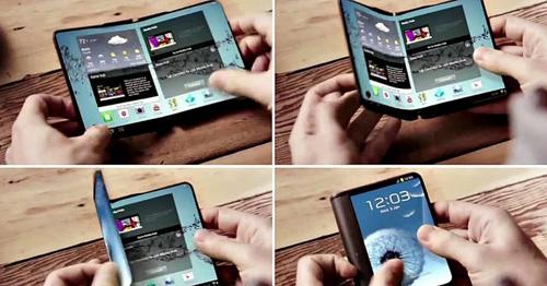 """Điện thoại """"gập đôi"""" màn hình của Samsung sắp ra mắt - 1"""