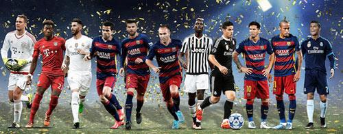 Đội hình hay nhất UEFA: Barca áp đảo, kỷ lục cho Ronaldo - 1