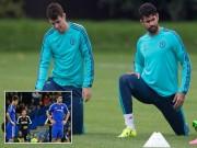 """Bóng đá - Chelsea lại """"có biến"""", Costa và Oscar """"tẩn"""" nhau trên sân tập"""