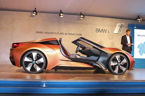 """Bất ngờ với siêu xe tự lái BMW i8 Spyder """"trong mơ"""" - 1"""