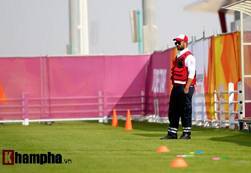 """U23 Việt Nam """"sướng"""" với sân tập đẳng cấp ở Qatar - 1"""