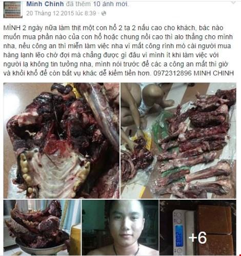 Rao bán hổ, gấu trên Facebook, kiểm tra ra… xương chó - 1