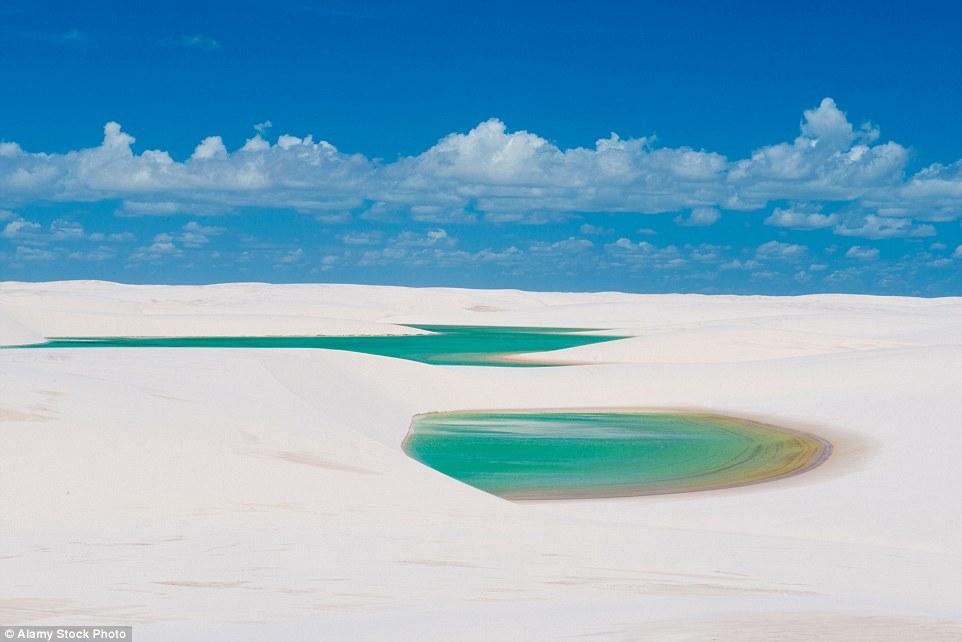 Ảnh: Cồn cát biến thành hồ nước đẹp mê hồn ở Brazil - 3