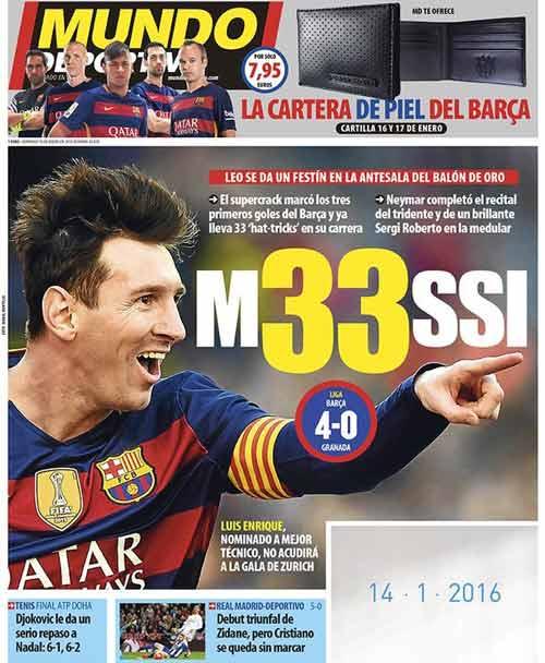 Chỉ cần chân trái, Messi lập hat-trick thứ 33 cho Barca - 1