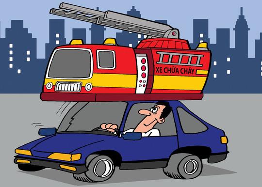 Rối bời với bình chữa cháy trên ô tô - 1