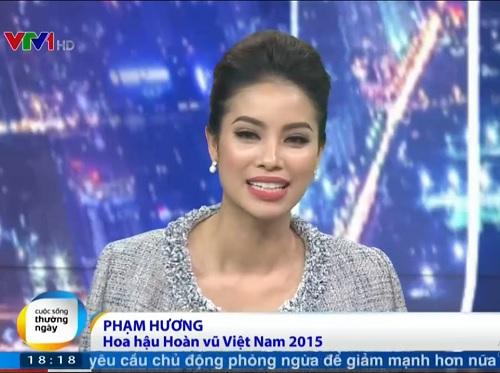 Phạm Hương tiết lộ hậu trường Hoa hậu Hoàn vũ 2015 - 1
