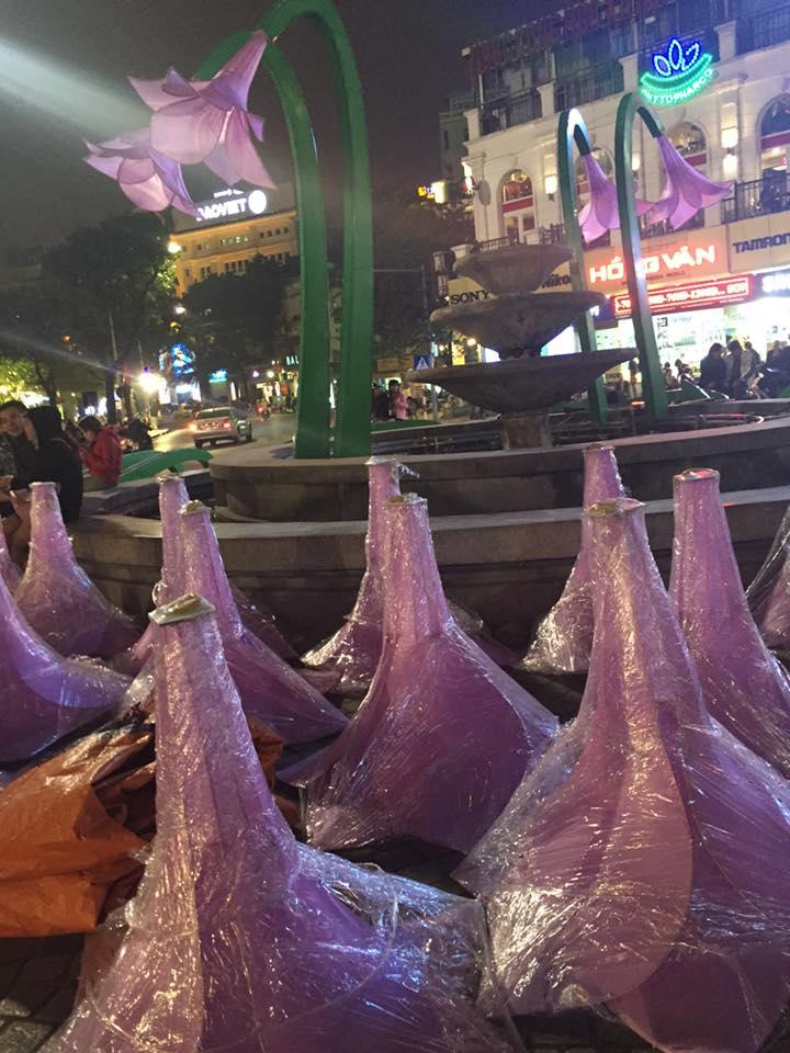 Đài phun nước Bờ Hồ: Từ bãi dừa đến... đài hoa lạ - 8