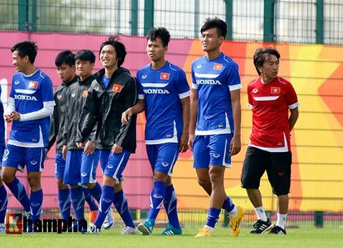 10 cảnh sát bảo vệ buổi tập của U23 Việt Nam ở Qatar - 7