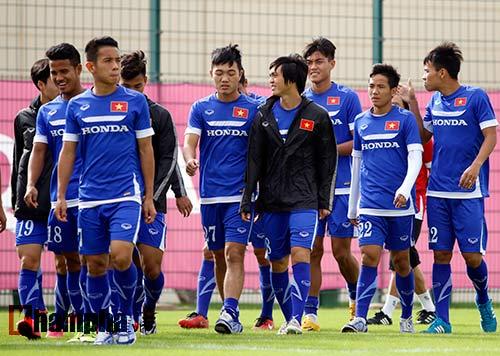 10 cảnh sát bảo vệ buổi tập của U23 Việt Nam ở Qatar - 4