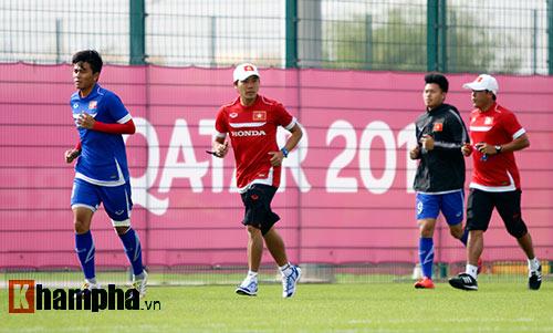 10 cảnh sát bảo vệ buổi tập của U23 Việt Nam ở Qatar - 5