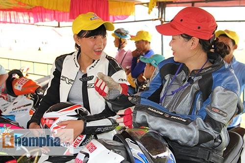 Cô thợ may xinh đẹp giành Á quân giải đua mô tô Việt - 3