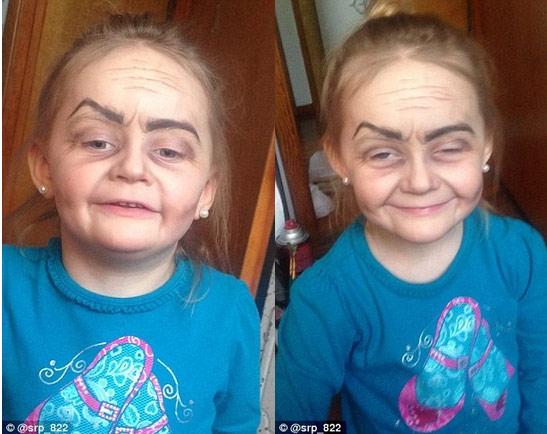 'Phù phép' bé gái 3 tuổi thành bà cụ 80 - 2