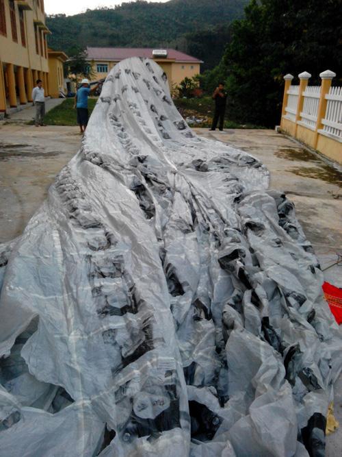 Vật thể lạ khổng lồ rơi xuống miền núi Quảng Nam - 2
