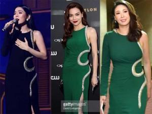 Người mẫu - Hoa hậu - Hà Kiều Anh 'đụng váy' Hà Hồ dù đã có trước 'cảnh báo'