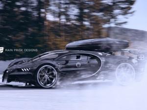 """""""Hàng nóng"""" Bugatti Chiron lộ ảnh trên tuyết"""