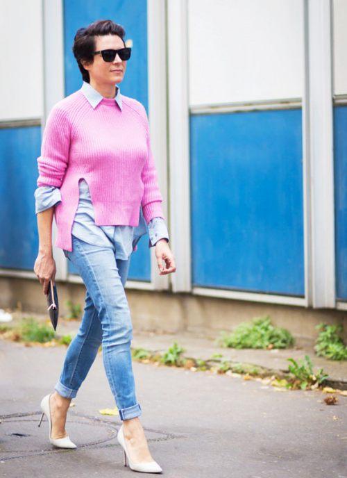 Học tín đồ thế giới diện quần jeans đơn giản mà đẹp - 11