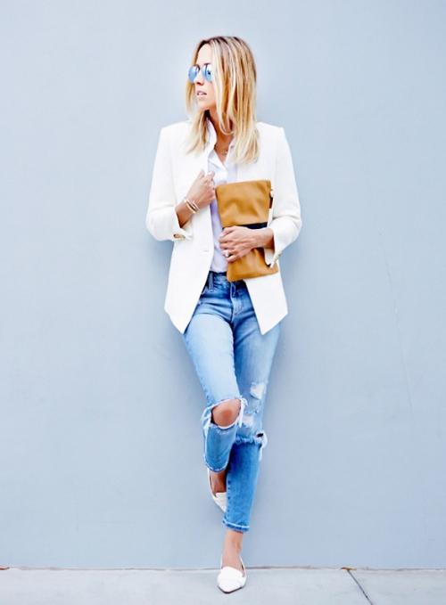 Học tín đồ thế giới diện quần jeans đơn giản mà đẹp - 2