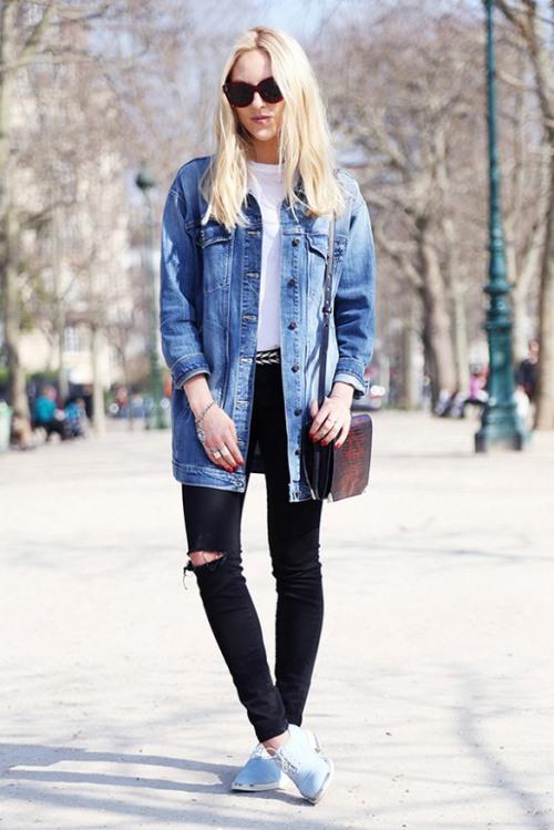 Học tín đồ thế giới diện quần jeans đơn giản mà đẹp - 3