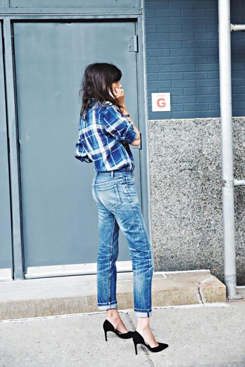 Học tín đồ thế giới diện quần jeans đơn giản mà đẹp - 12