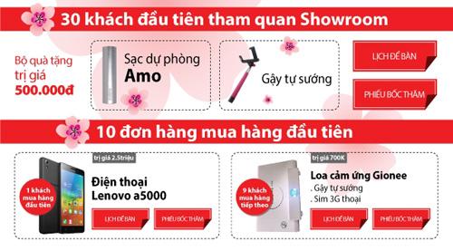 TechOne tặng smartphone mừng khai trương showroom Hồ Tùng Mậu - 1