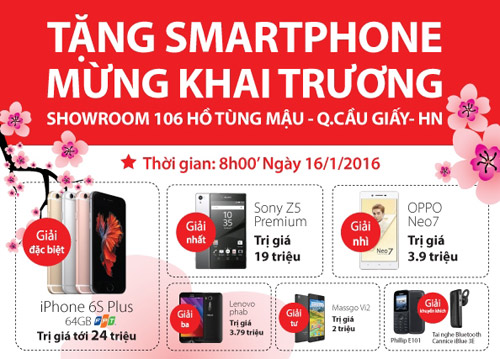 TechOne tặng smartphone mừng khai trương showroom Hồ Tùng Mậu - 2