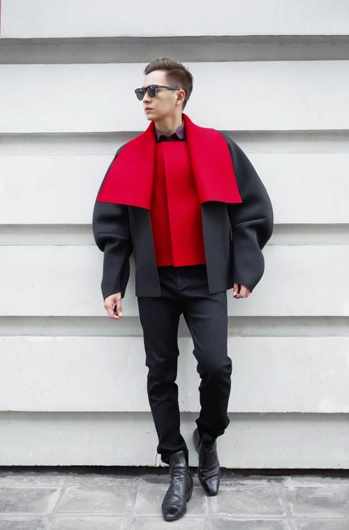 Ngô Kiến Huy 'bắt mắt' với gu thời trang phóng khoáng - 5
