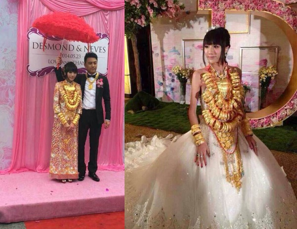 Lóa mắt với những đám cưới vàng ròng của đại gia ở TQ - 6