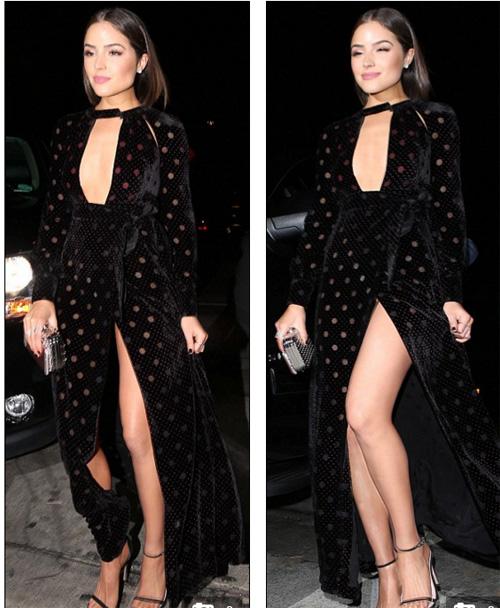Hoa hậu Hoàn vũ 2012 bối rối vì 'tai nạn váy xẻ' - 3