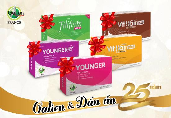 Kỷ niệm 25 năm thành lập, Galien khuyến mãi lớn - 1