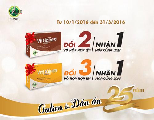 Kỷ niệm 25 năm thành lập, Galien khuyến mãi lớn - 2