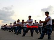 Võ thuật - Quyền Anh - Cận cảnh lính Trường Sa luyện võ lúc tinh mơ