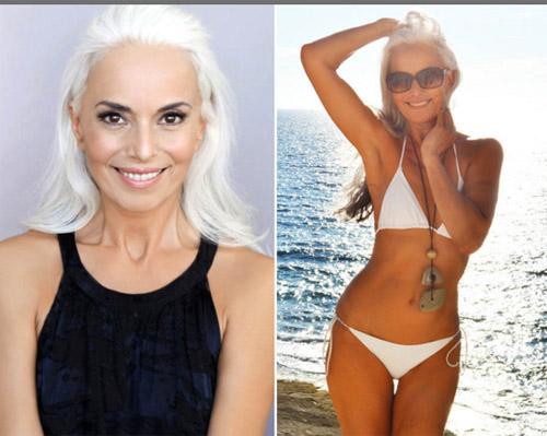 Người mẫu 60 tuổi sexy, trẻ đẹp khó tin nhờ rau hữu cơ - 1
