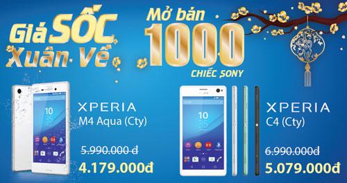 Giá sốc xuân về - mở bán 1000 chiếc Sony M4 Aqua và Sony C4 - 1