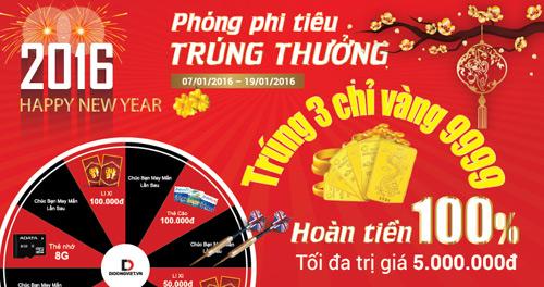 """Di Động Việt khuyến mãi Tết Bính Thân 2016: """"phóng tiêu trúng thưởng"""" - 1"""