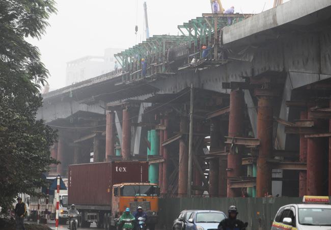 Cận cảnh cầu vượt thép 6 làn xe lớn nhất Thủ đô - 5