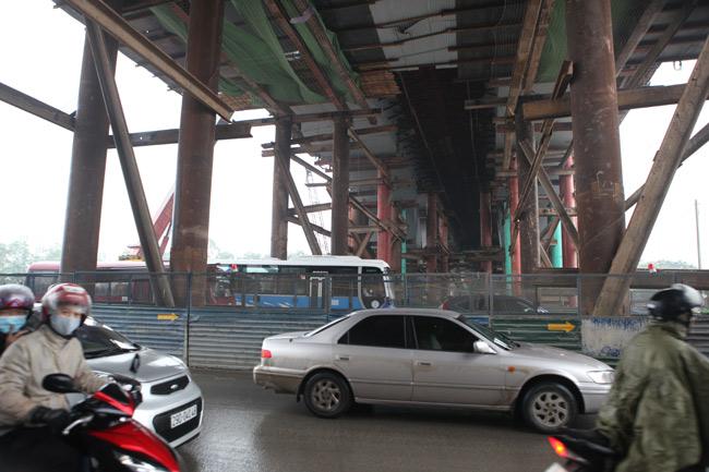 Cận cảnh cầu vượt thép 6 làn xe lớn nhất Thủ đô - 7