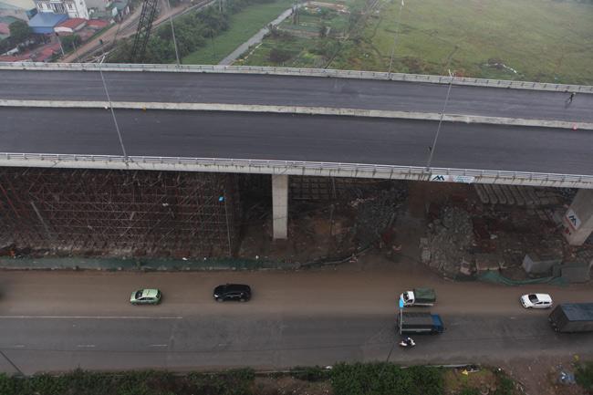 Cận cảnh cầu vượt thép 6 làn xe lớn nhất Thủ đô - 10
