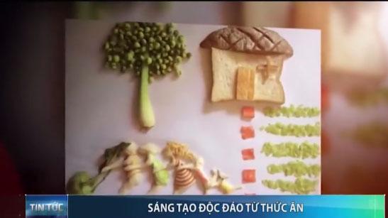 Người phụ nữ Việt sáng tạo 'vẽ' tranh từ đồ ăn - 1