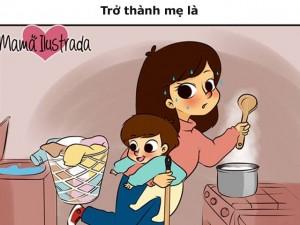 Bạn trẻ - Cuộc sống - Bộ tranh xúc động: Khi được làm mẹ!