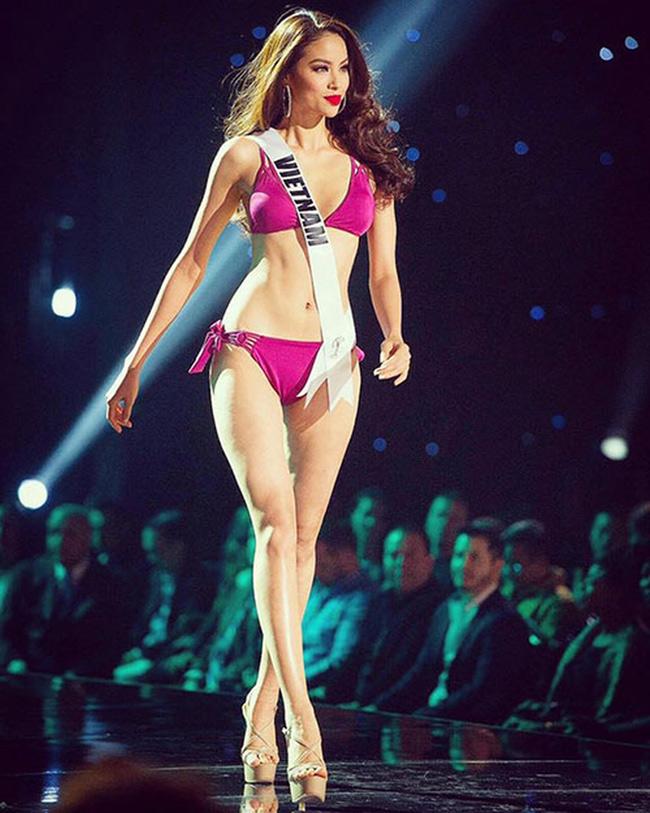 Hoa hậu Phạm Hương có số đo 3 vòng: 80 - 59 - 91 (cm). & nbsp;