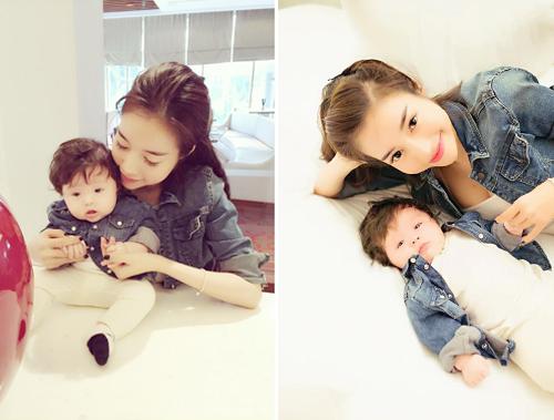 Bộ sưu tập đồ đôi mẹ - con cực 'chất' của Elly Trần - 1
