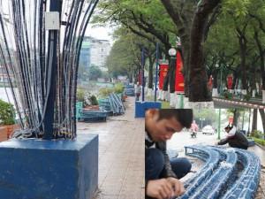Tin tức trong ngày - HN tháo dỡ, sửa lại hàng loạt dàn đèn trang trí Tết