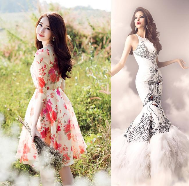 Thu Thảo có phong cách nhẹ nhàng, lãng mạn còn Phạm Hương gợi cảm, sexy.