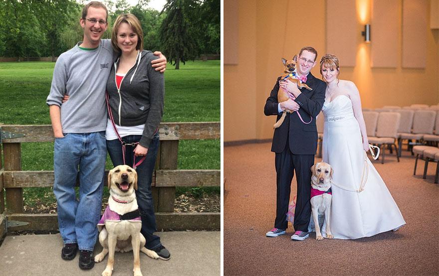 Cảm động chú chó an ủi cô dâu trước lễ cưới - 2