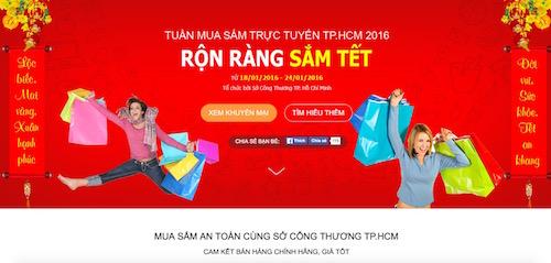 TP.HCM: Sở Công thương tổ chức ngày hội mua hàng online Tết 2016 - 1