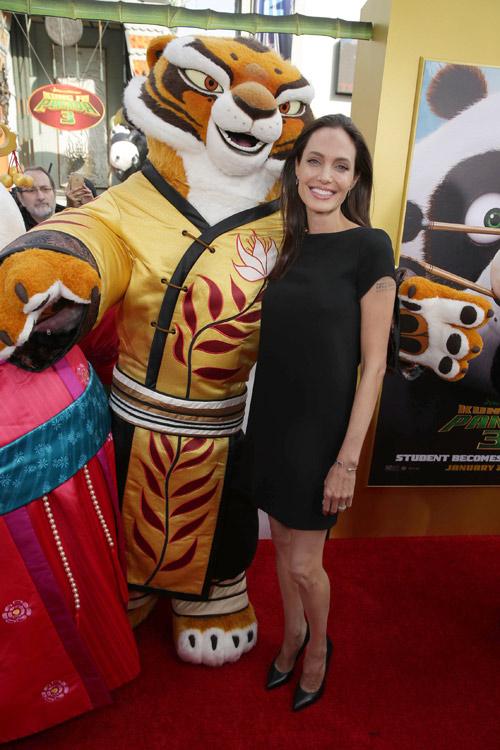 Tóc Tiên gợi cảm bên dàn sao 'Kungfu Panda 3' tại Mỹ - 6