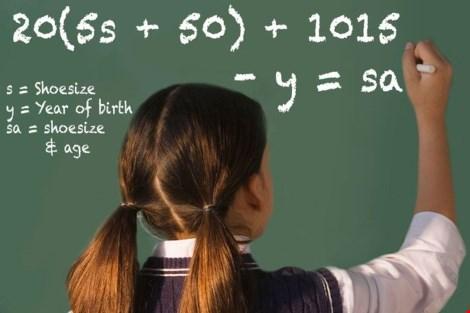 Bài toán 'huyền bí': Từ cỡ giầy tính ra số tuổi - 1