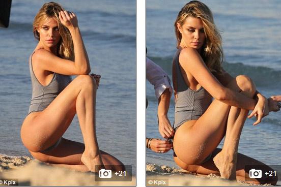 Mẫu 2 con khoe chân dài 'bất tận' với áo tắm sexy - 8
