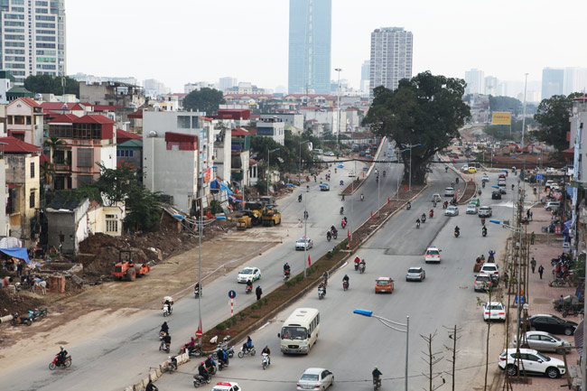 Cận cảnh đường 6.000 tỷ nối Cầu Giấy-Nhật Tân ở Hà Nội - 3